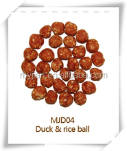 duck and rice ball MJD04 pets snacks dry bulk dog training treat food chew natural manufacturers