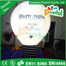 good quality inflatable advertising balloon/led balloon light for sale
