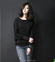 2015 Spring Autumn clothes new large size women's casual Design long-sleeved shirt loose bat shirt Women Tops