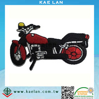 Customized heat-cut motorcycle design embroidery patch