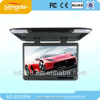 22inch 1080p car monitor car roof mount monitor