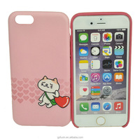 Soft PU Leather phone case with cat pattern for iphone 6