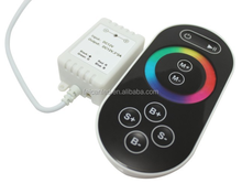 8keys RF Wireless LED Touch Controller;RF Touch Dimmer;DC12~24V;Output current:max 2A*3channels;output power:12V:<72W, 24V:<144W