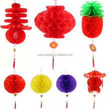 New Year ornaments decorated and furnished hotel restaurant paper lanterns lanterns fruit pineapple lantern