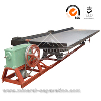 Tin ore shaking table concentrator