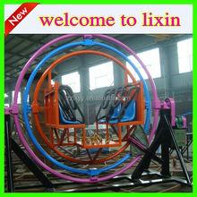 New model gyroscope, amusement rides Human gyroscope for sale