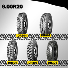 Double Road top brands high quality radial 9.00r20 truck tyre