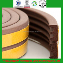 self adhesive D/E/P/I shape door and window sponge rubber seal with 3m tape