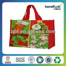 Colorful white non-woven shopping bag