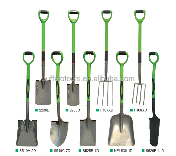 different type of shove spade garden tools agricultural