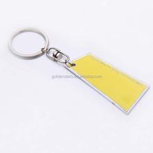 Custom metal name keychain estern printing blank metal engraved name keychains