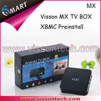 Vissontech wholesales MX Dual core 1G,8G amlogic 8726 MX android tv box