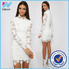 Yihao 2015 Hot Sale Women Lace Dress patterns lace applique dresses Girls Long Sleeve Dress