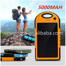 2015 durable 10000mah square waterproof solar power bank charger for all mobilephone and tablet