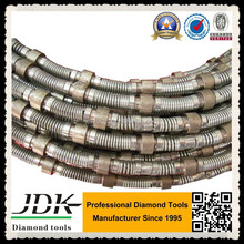 Spring Coating Diamond Concrete Wire Saw For Cutting Concrete Block On Wire Saw Cutting Machine