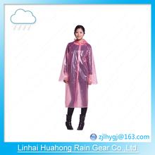PE PEVA before open long gown transparent raincoat