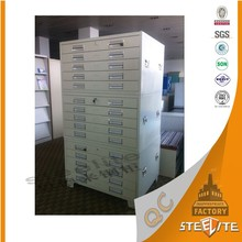Commercial Office Tall Vertical Fireproof Lockable Steel Plan Cabinet / Metal Drawing Cabinet / Metal Cabinet Used