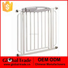 White Sturdy Metal Walk Thru Child Pet Safety Fence Gate Dog Gate H0237