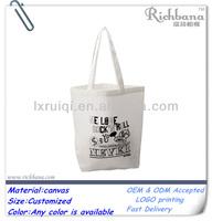 plain white cotton canvas tote bag wholesale