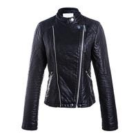 Wholesale custom fashion pu women motorcycle jacket