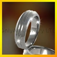 popular 316l stainless steel blank men's finger ring