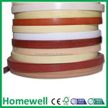2mm wood grain plastic PVC furniture edge band