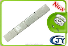Plastic coated wheel balance weight