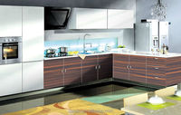 2015 popular modular kitchen cabinet color combinations
