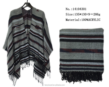 fashion shawls and scarves pashmina stripes pattern tassel shawl