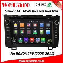 "Wecaro android 4.4.4 car stereo Wholesales 8"" for honda crv navigation Wifi&3G 2006 - 2011"