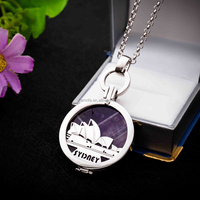 925 Sterling Silver Coin Locket Pendant Necklace