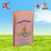 Bopp coated pp woven bag of rice 25kg