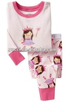 pink Princess Mononoke baby pajamas cheap 100% cotton baby cloth children's pajamas sleeping wear suit sets PL65