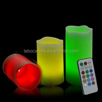safe and smoke-free Flameless candles/realistic brightness with battery powered led candle