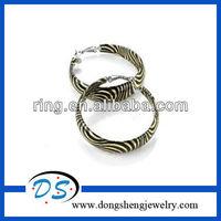 Gold and black zebra print wide hoop earrings