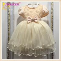 New design flower girl dress 2015 fashion kids party wear girl dress wholesale