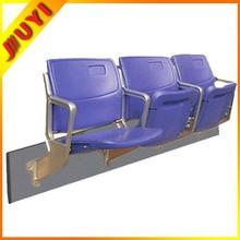 BLM-4252 JUYI Factory Aluminium Leg Soccer Gym Folding Stadium Brand New Fashion Design Vip Portable Used Plastic Folding Chairs