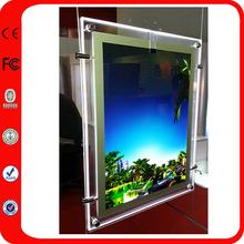 Cable Hanging Frameless Acrylic LED Light Frame For Real Estate