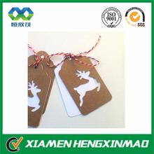 2015 wholesale brown kraft paper hang tag christmas ornaments