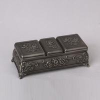 wedding decoration antique metal custom box for jewelry wholesales