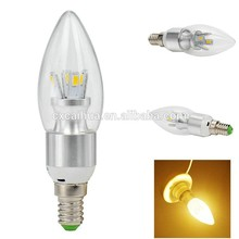4W E14 led candle light 5730 SMD led lamp silver aluminum house with glass cover
