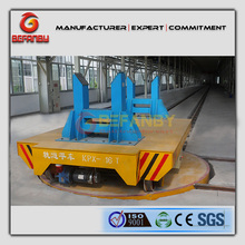 Paper roll factory application electric industrial turntable transfer carts on rail