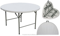 4ft small plastic folding in half round table, durable round banquet folding table, 1.2m round dinning table