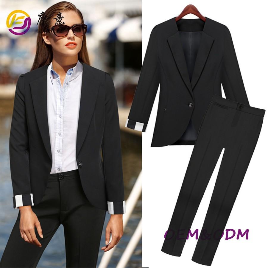 Black Pant Suits For Women