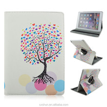 Print Love Tree Pattern PU Leather Flip Stand Tablet Covers Case For iPad Air 2 with Elastic Belt