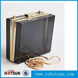 Elegant Black and transparent Acrylic box clutch