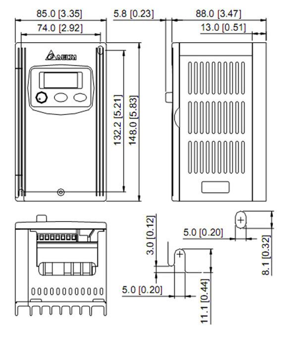 VFD002S23A DELTA VFD-S VFD Inverter Frequency converter