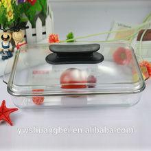3L placa rectangular de cristal Pyrex, plato microondas con tapa