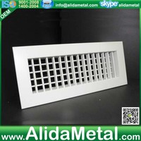 HVAC system supply air grille with ANSI standard