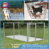 6x10x6 welded iron dog kennels / pet double dog cages / dog house